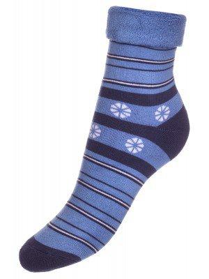 Носки SOF-TIKI махровые внутри с отворотом  (043) голубой
