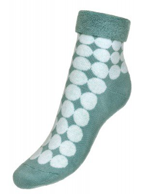 Носки махровые внутри с отворотом SOF-TIKI (222) бирюзовый
