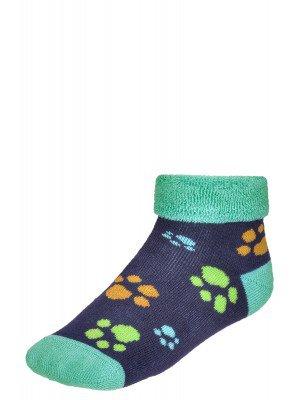 Носки махровые внутри с отворотом SOF-TIK  (244) темно-синий