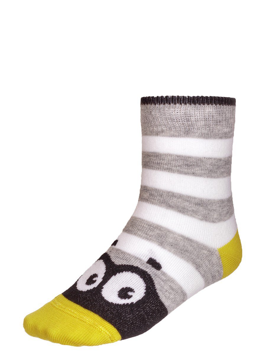 Носки TIP-TOP веселые ножки  (283), цвет: серый