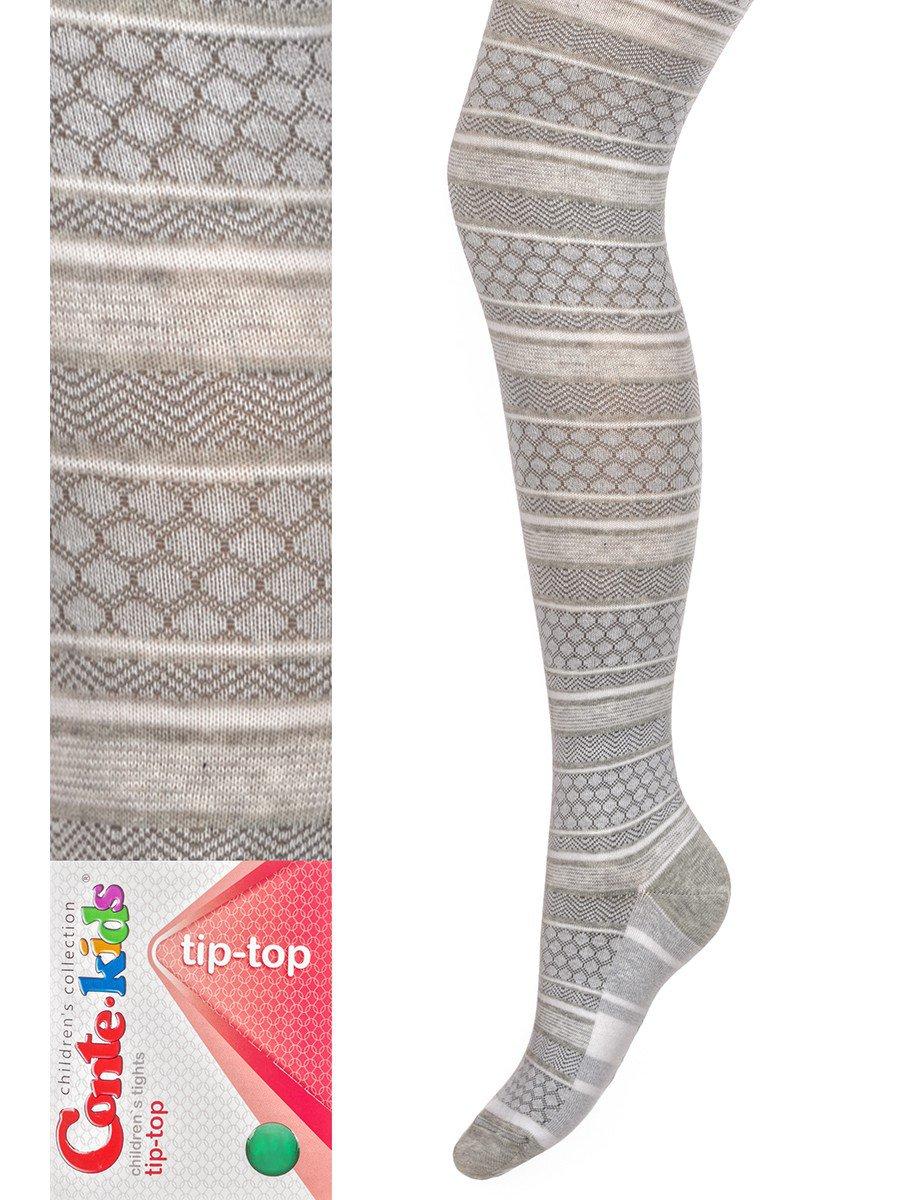 Колготки  для девочки TIP-TOP, цвет: светло-серый