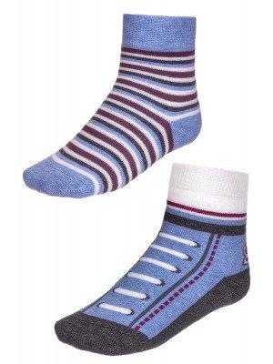Носки SOF-TIKI (704) на блистере 2 пары ,белый-голубой