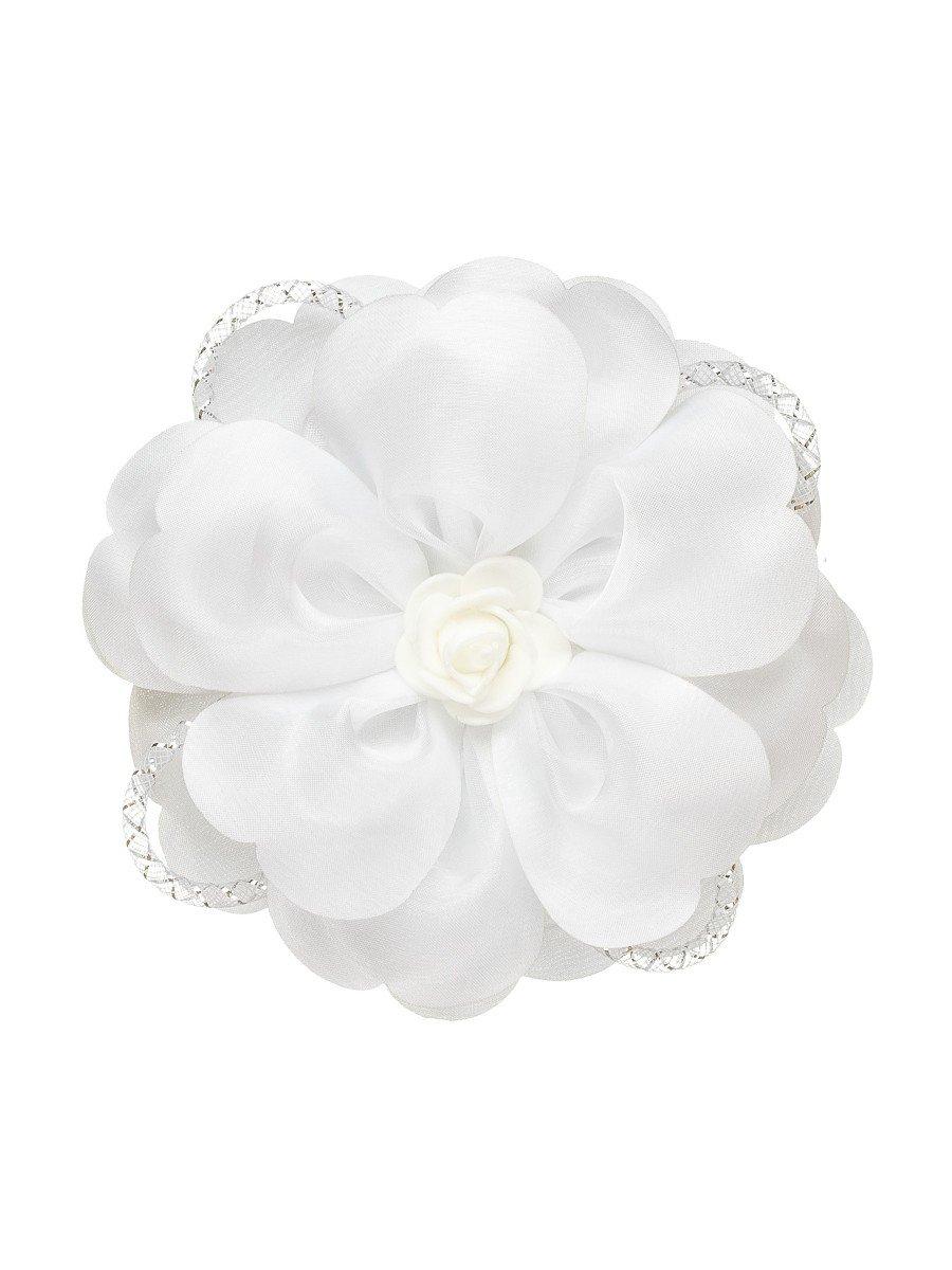 Бант-резинка, цвет: белый