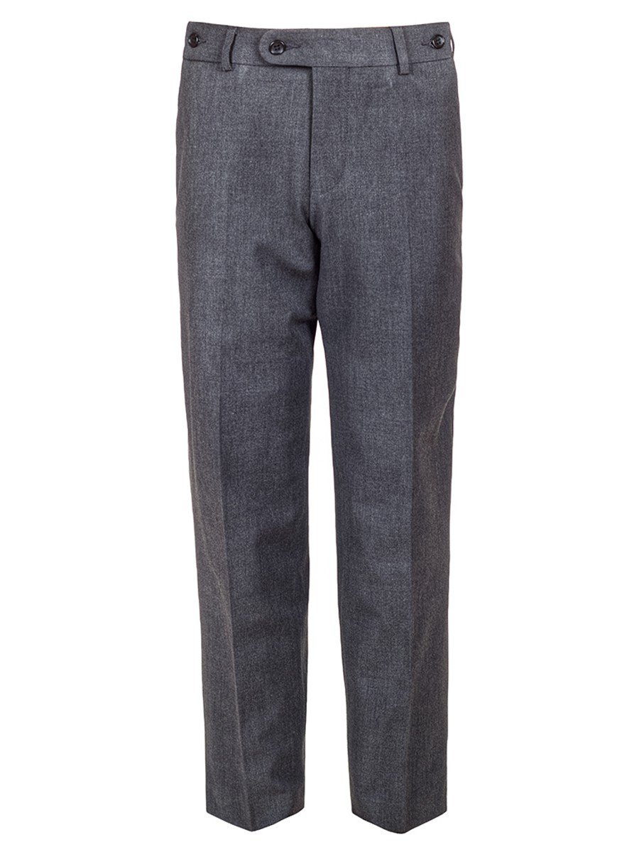 Брюки текстильные для мальчика, цвет: серый