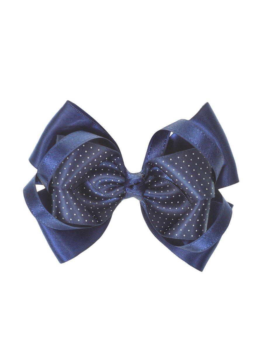 Бант-резинка 11см, цвет: темно-синий
