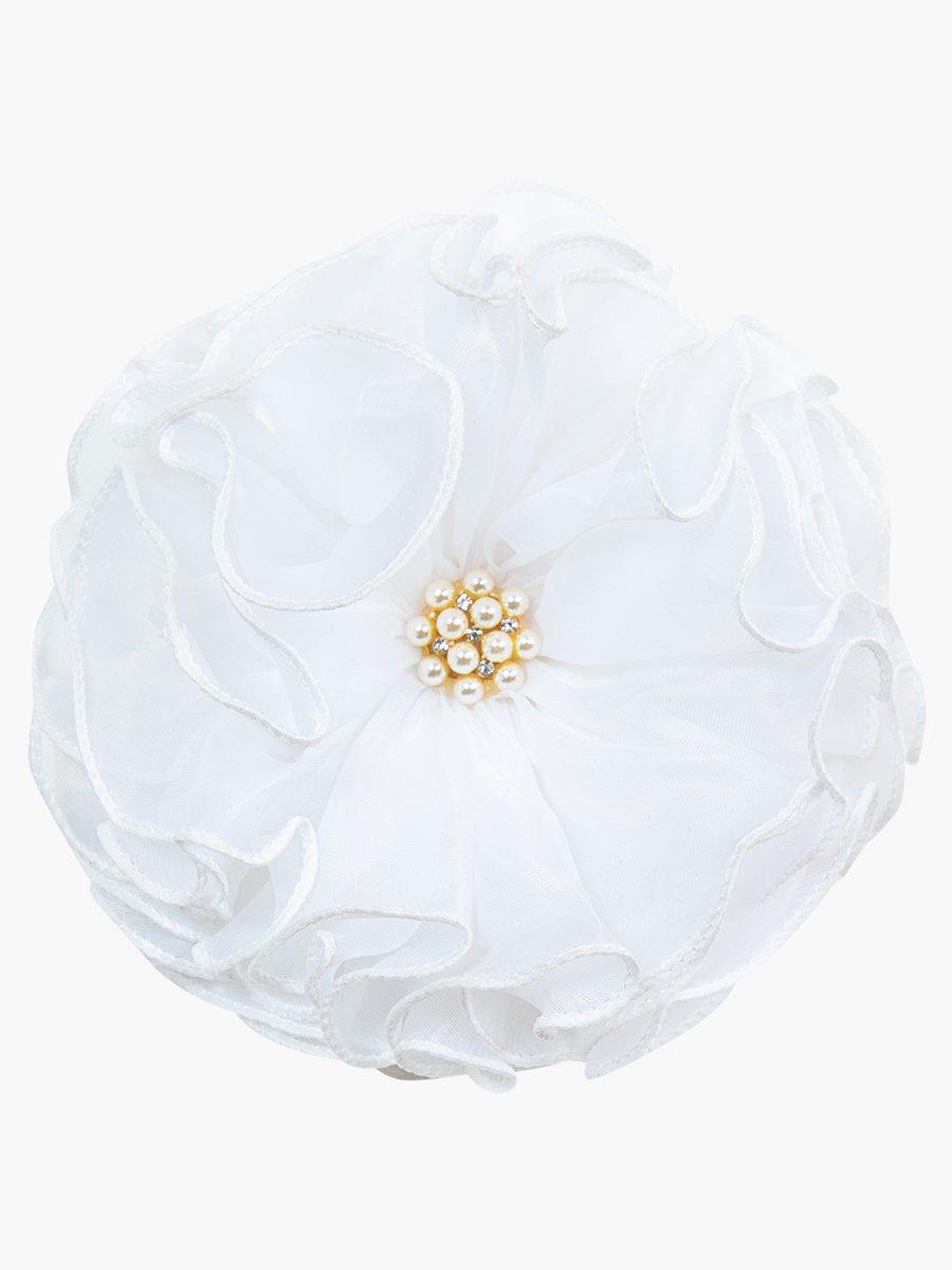 Бант на резинке, цвет: белый