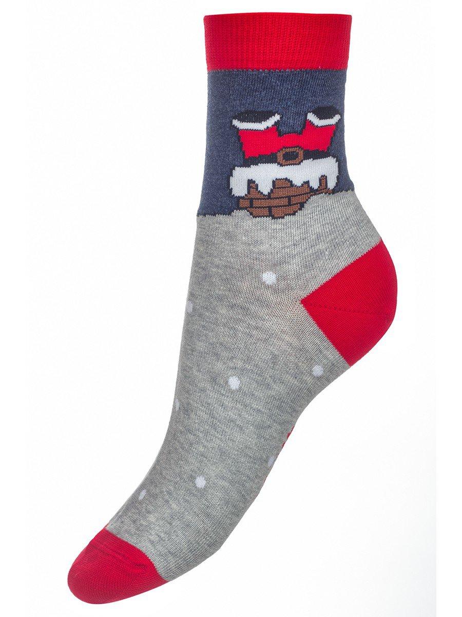 Носки детские новогодние 305 серый