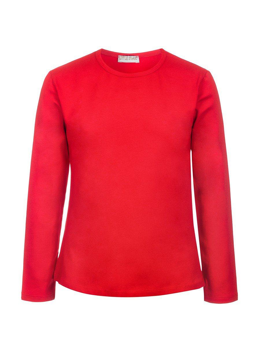 Комплект для девочки:блузка и туника из сетки со шлейфом.Декор-бусины., цвет: красный