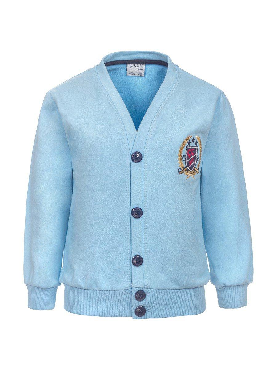 Кардиган для мальчика, цвет: голубой