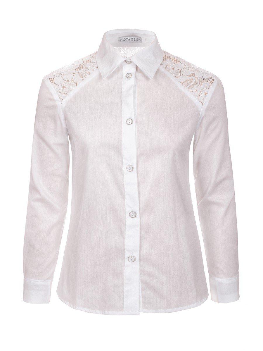 Блузка для девочки младшего школьного возраста, цвет: белый