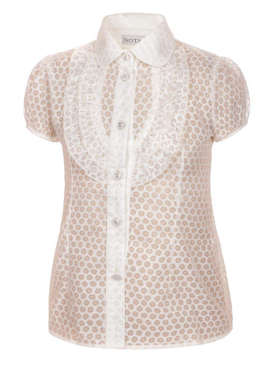 Блузка для девочки младшего школьного возраста, цвет: молочный