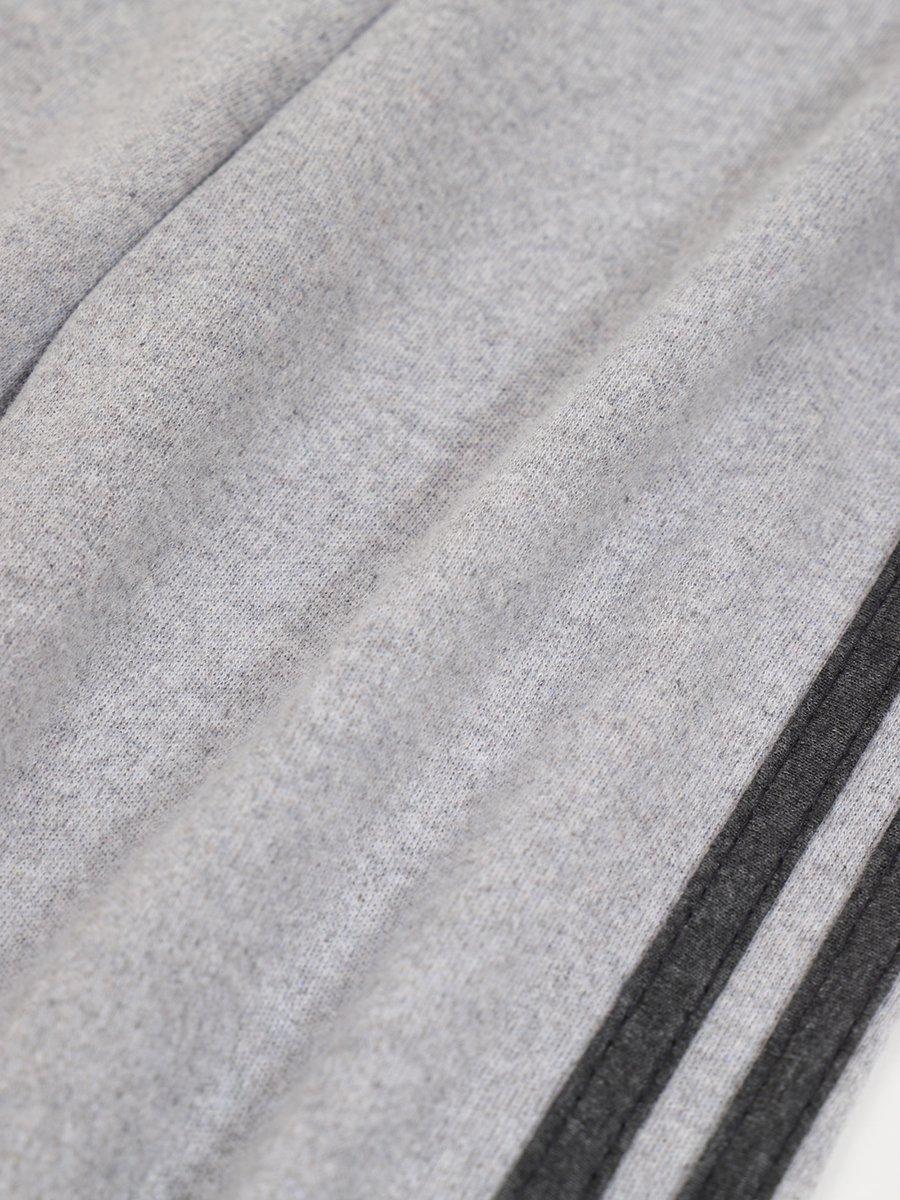 Брюки для мальчика, цвет: серый меланж