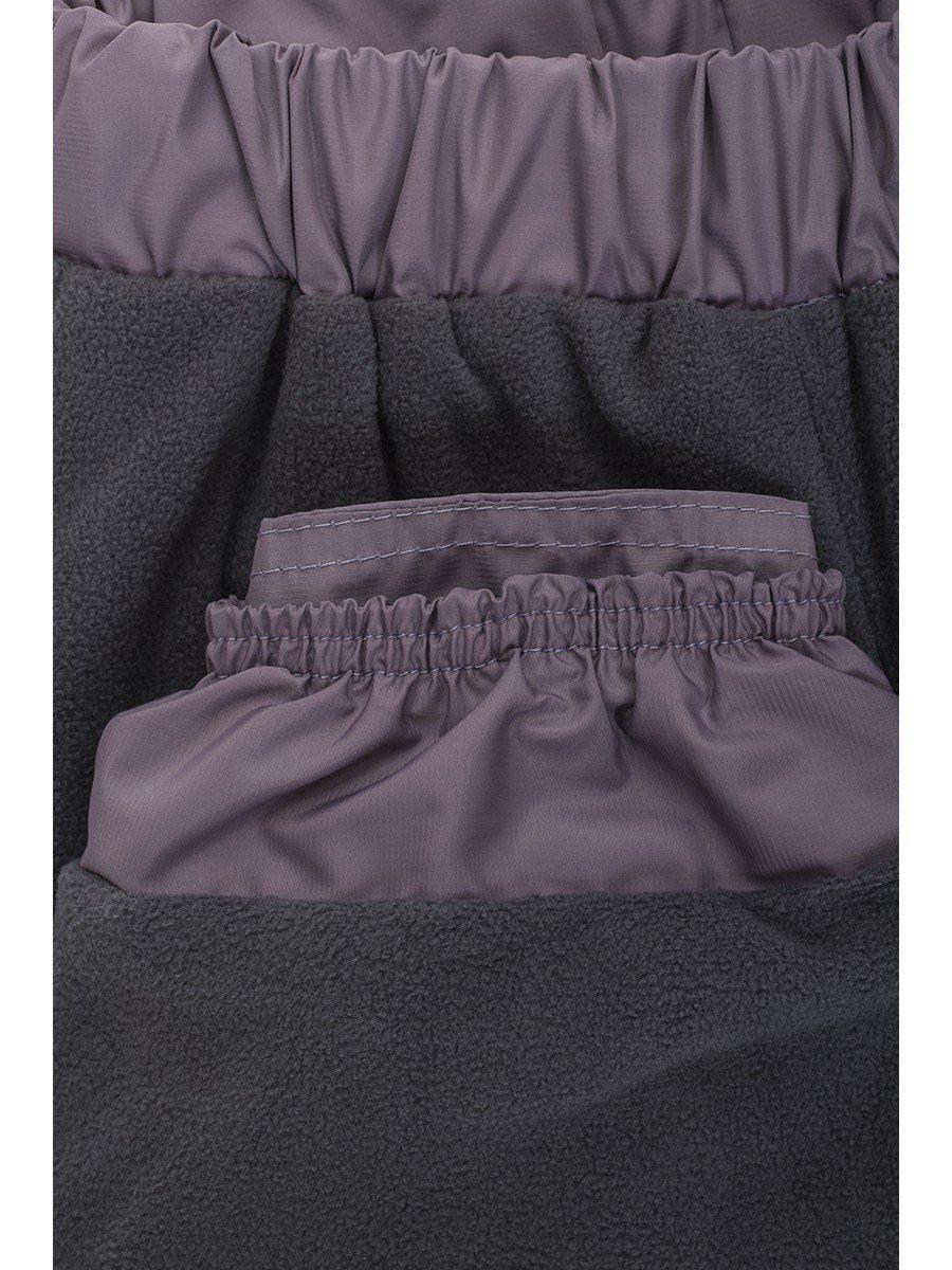 Брюки для девочки утепленные на флисе, цвет: лиловый