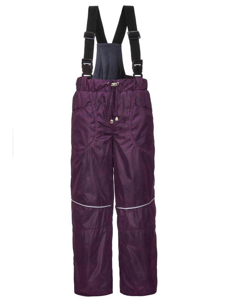 Брюки унисекс утепленные на флисе, цвет: фиолетовый