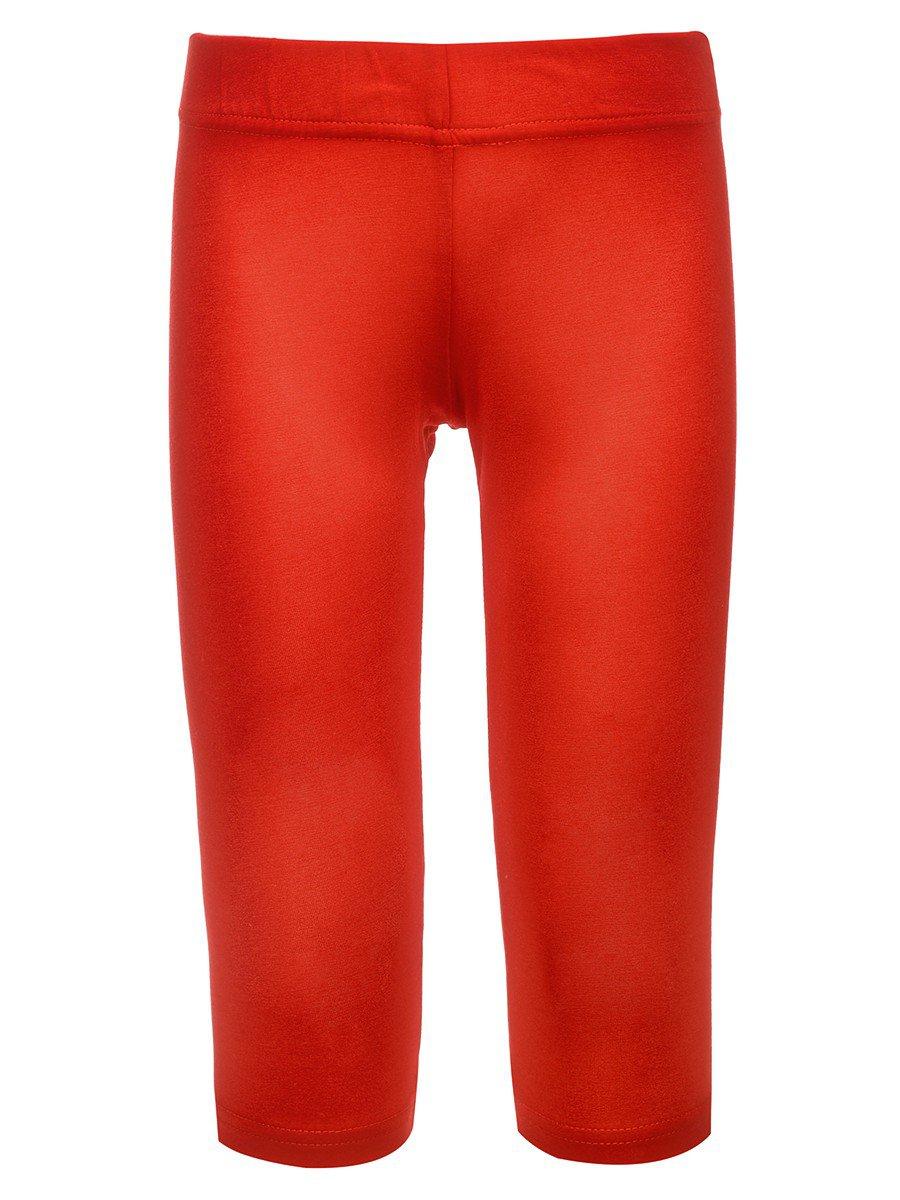 Бриджи приталенные для девочки, цвет: красный