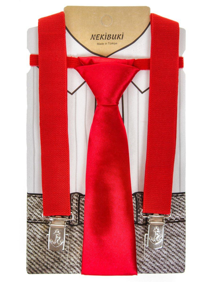 Набор подтяжки и галстук: длина галстука 26 см,подтяжки по спинке 45 см max