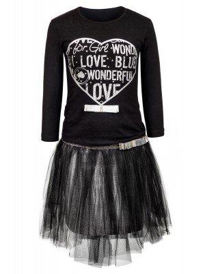 Комплект для девочки:блузка и юбка из сетки,на подкладке