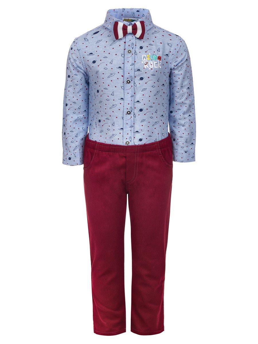 Комплект для мальчика:брюки и рубашка с бабочкой