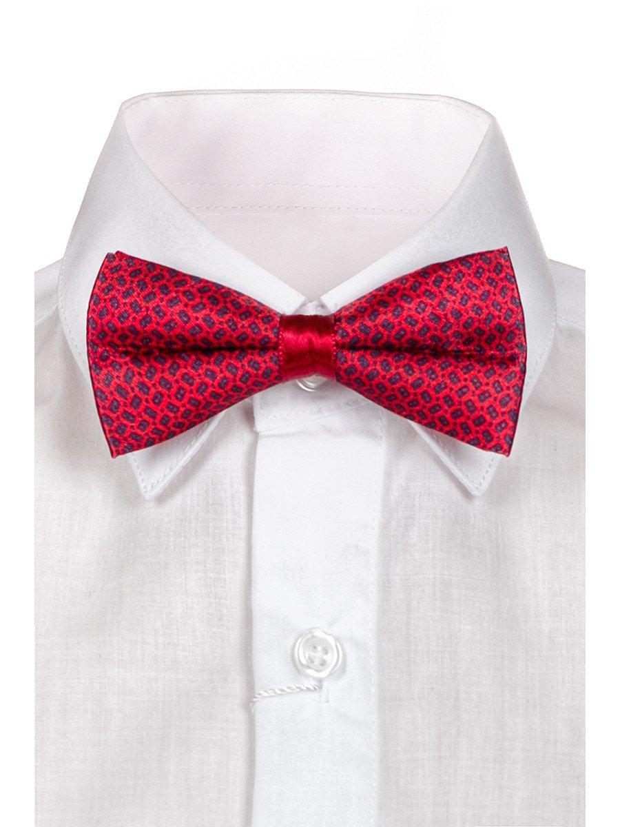 Бабочка в подарочной упаковке для мальчика, цвет: бордовый