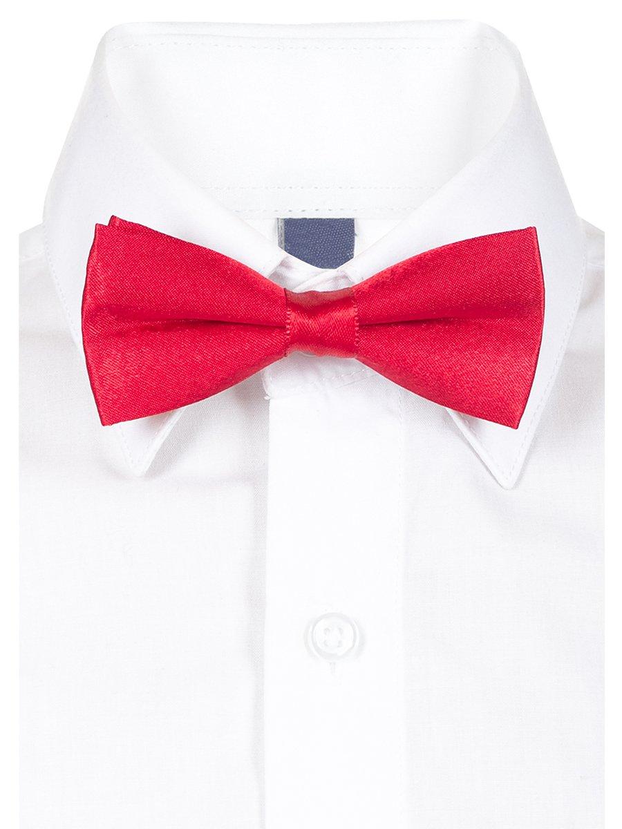 Бабочка для мальчика, длина 9 см, цвет: красный