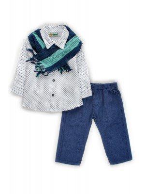 Комплект для мальчика:брюки,рубашка и шарфик