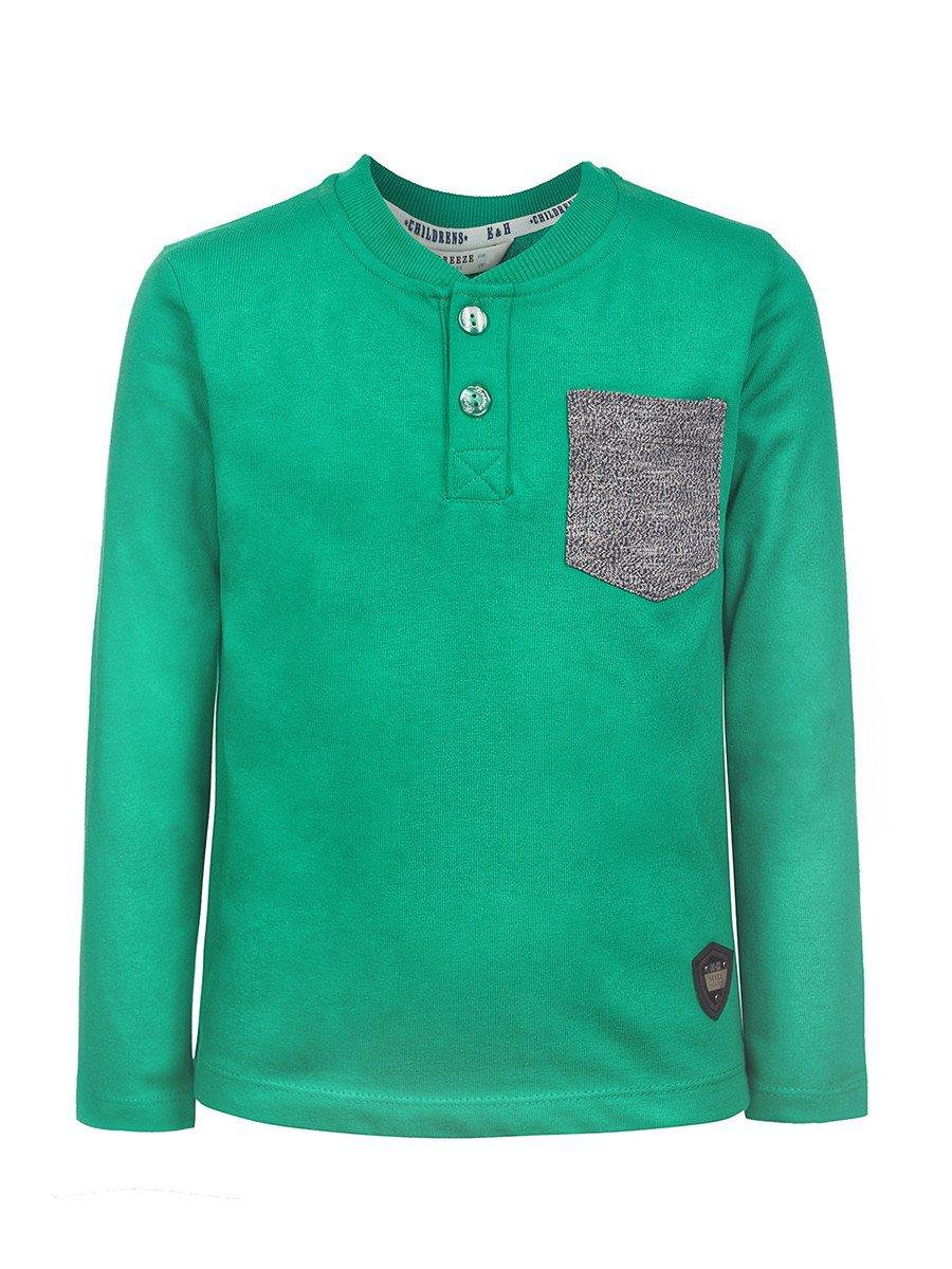 Лонгслив для мальчика, цвет: зеленый