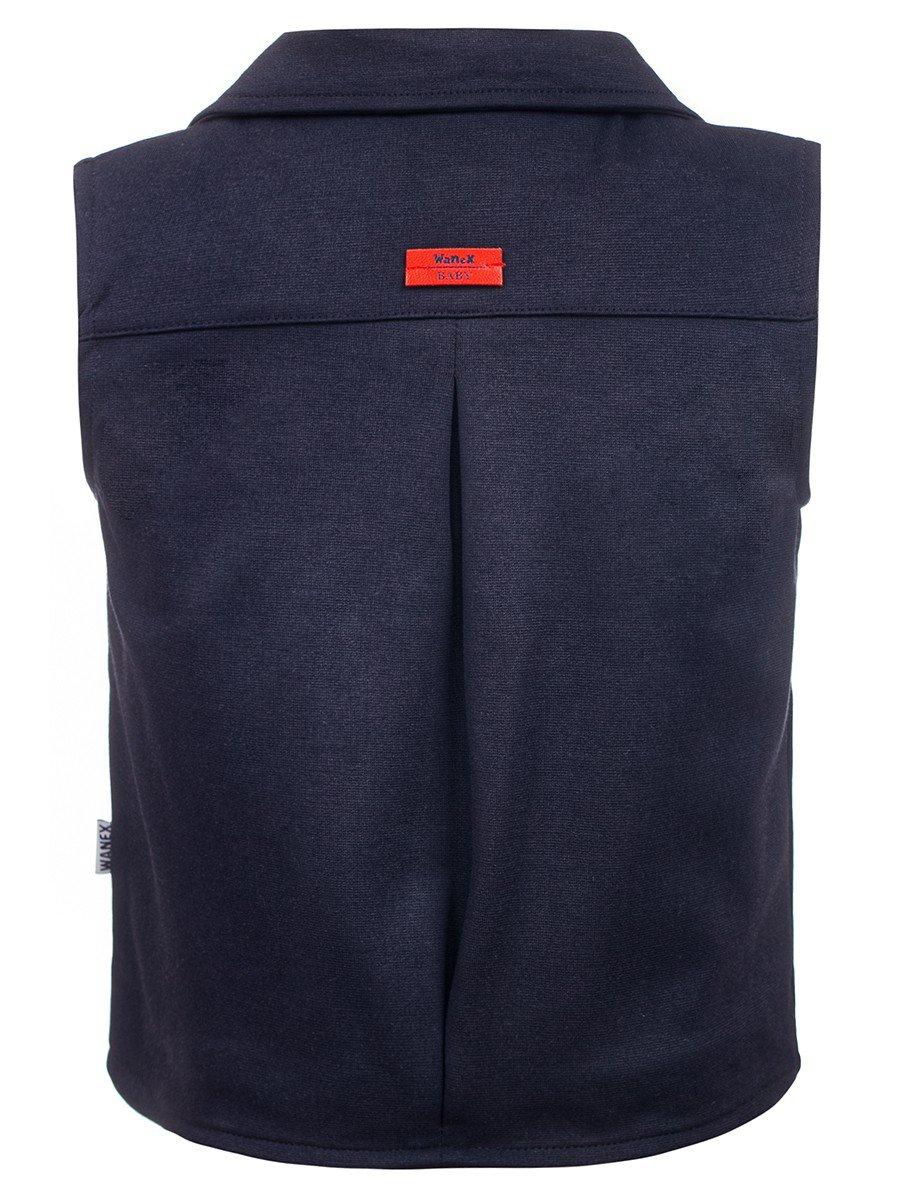 Жилет для мальчика на подкладке, цвет: темно-синий