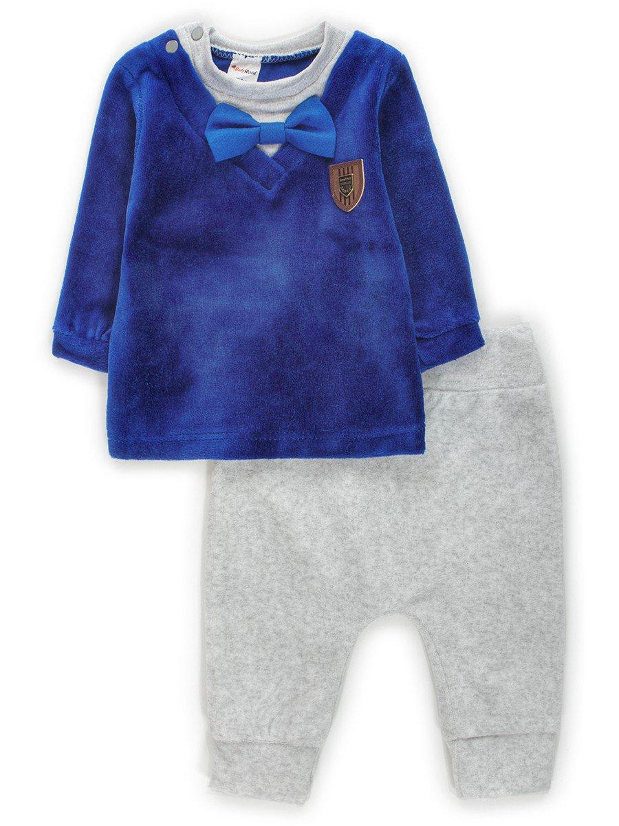 Комплект велюровый для мальчика:кофточка и штанишки
