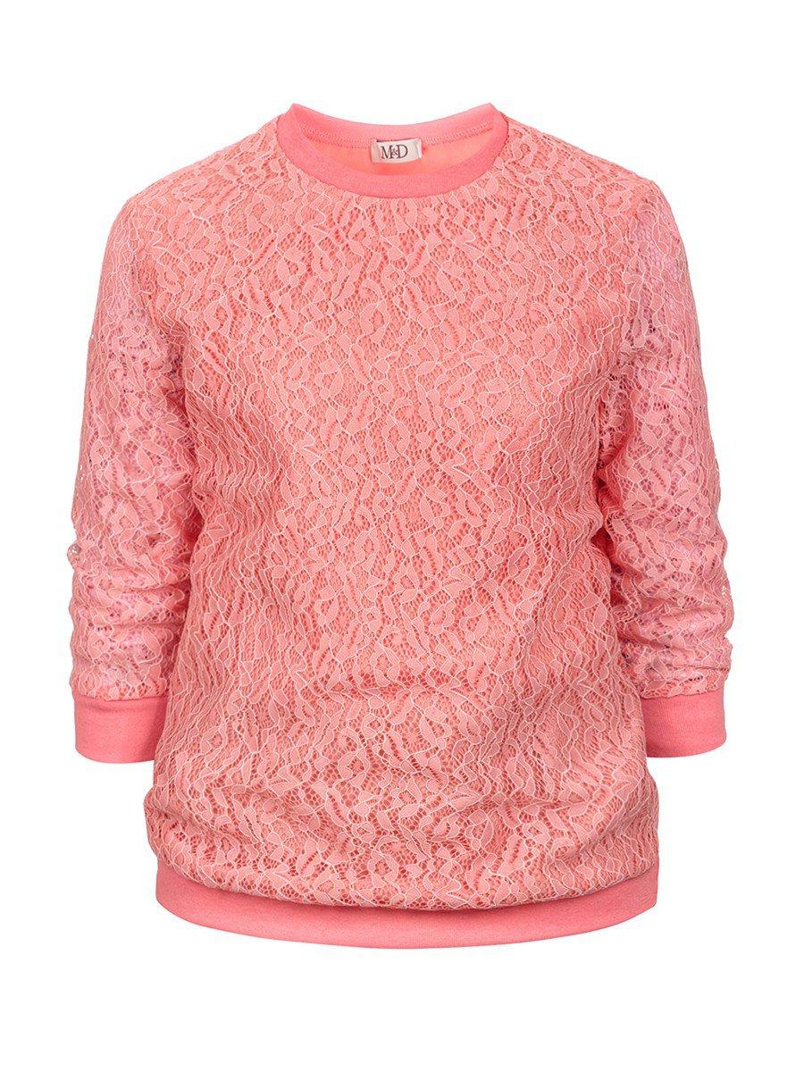Блузка нарядная для девочки, цвет: коралловый