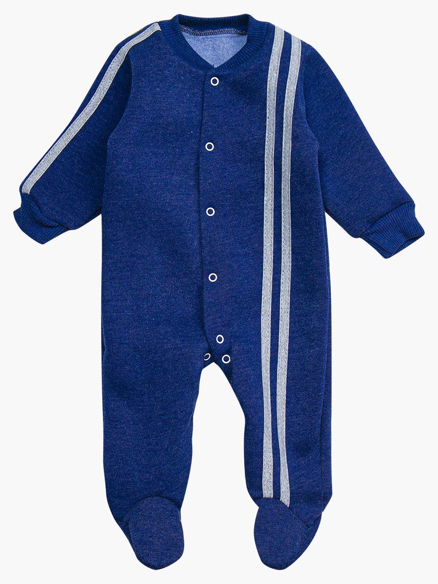 Комбинезон с начесом детский, цвет: темно-синий