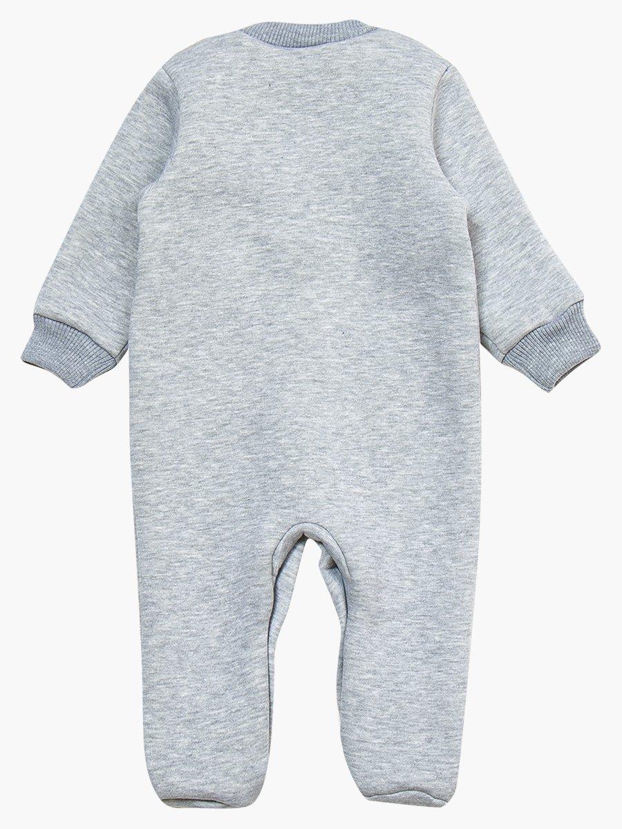 Комбинезон с начесом детский, цвет: серый меланж