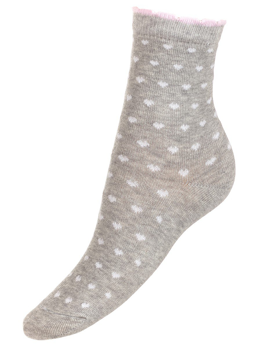 Носки для девочки, цвет: серый меланж