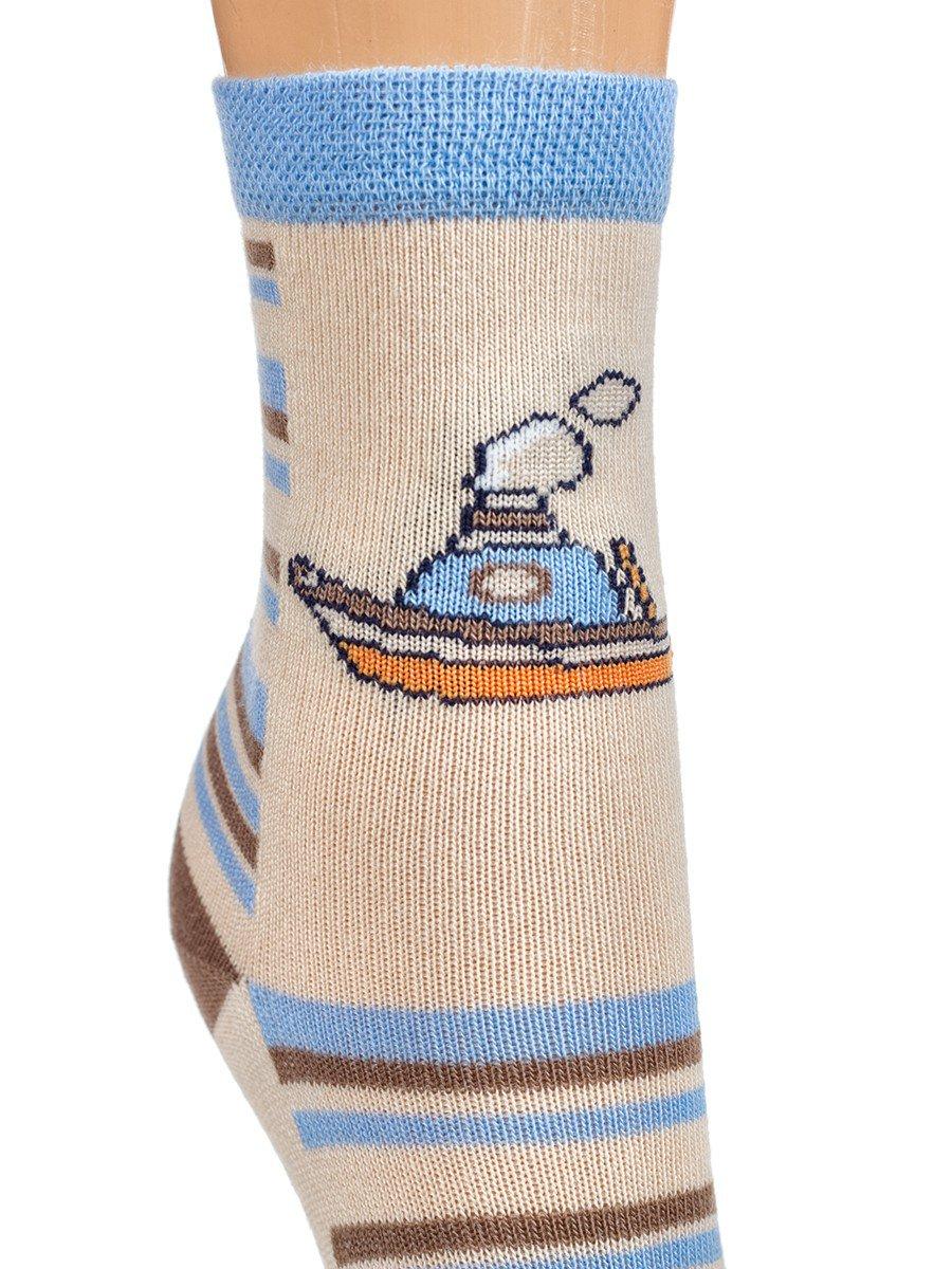 Носки для мальчика, цвет: бежевый