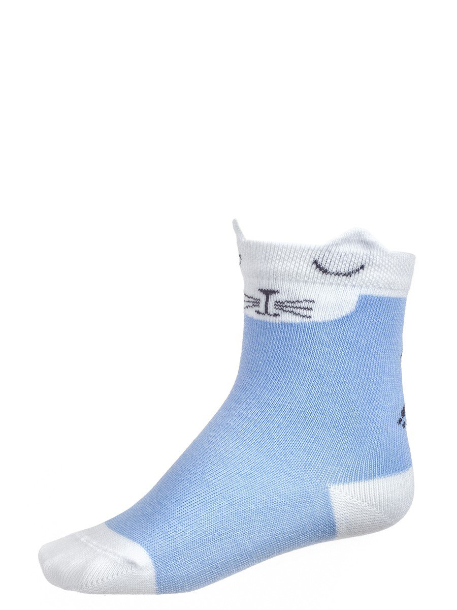 Носки для девочки, цвет: голубой