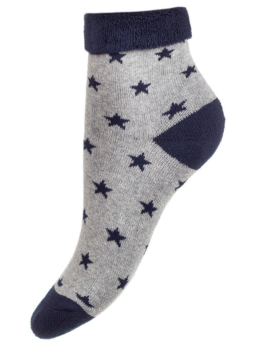 Носки детские, плюш внутри, цвет: серый меланж