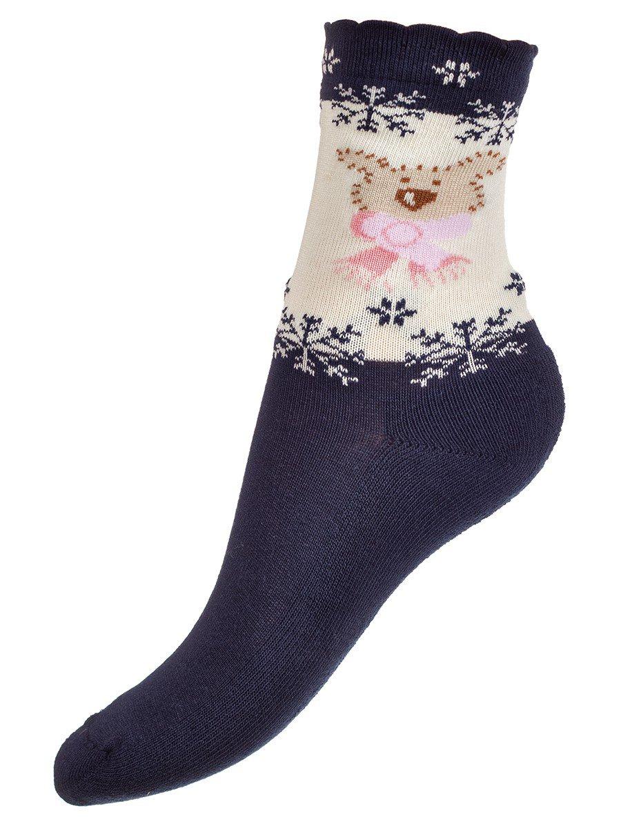 Носки для девочки, цвет: синий