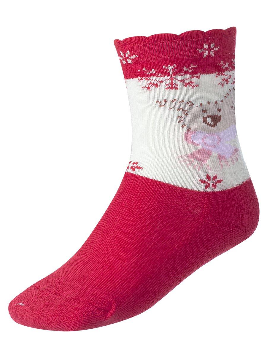 Носки для девочки, цвет: красный