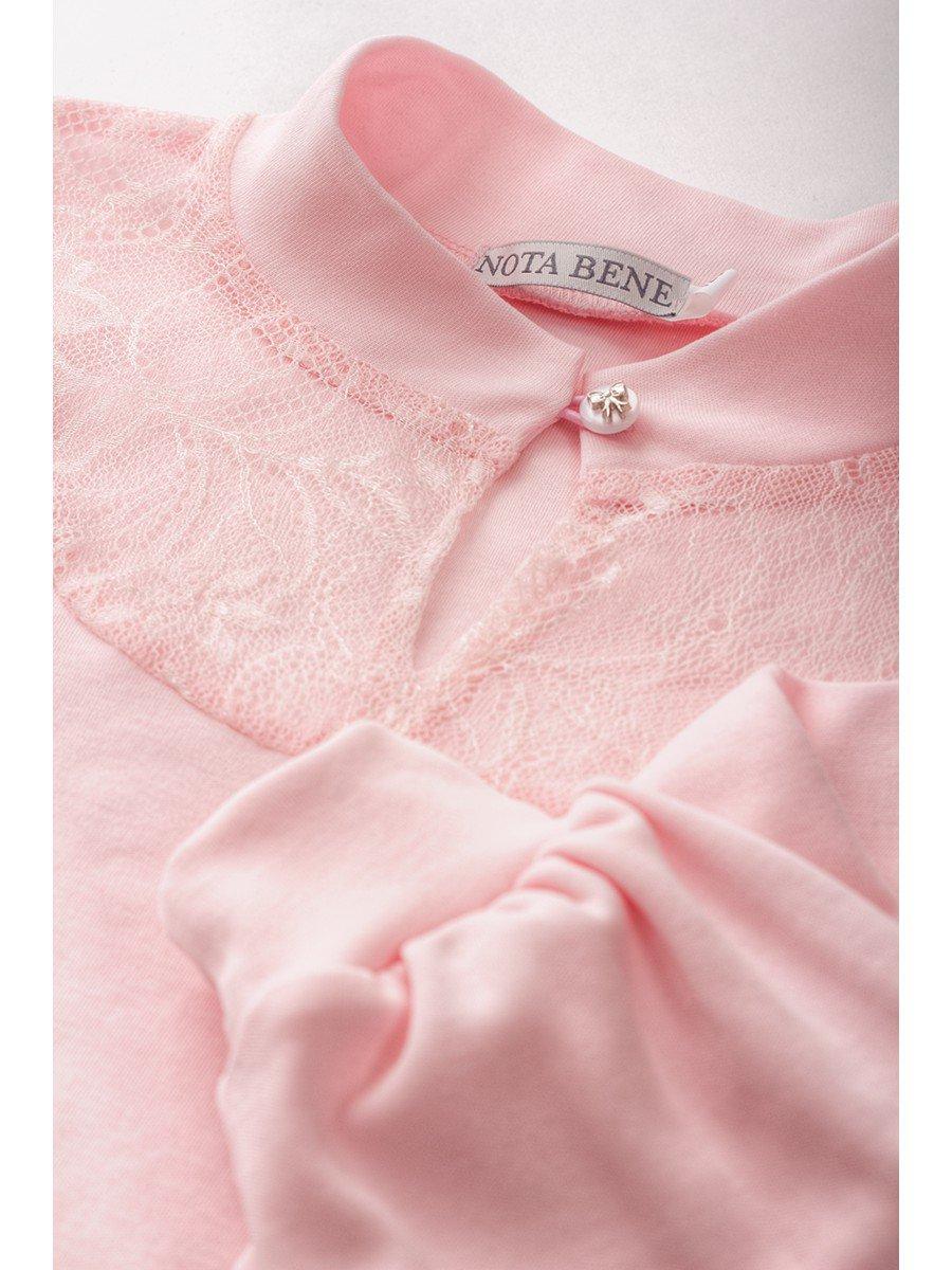 Блузка для девочки трикотажная, цвет: розовый