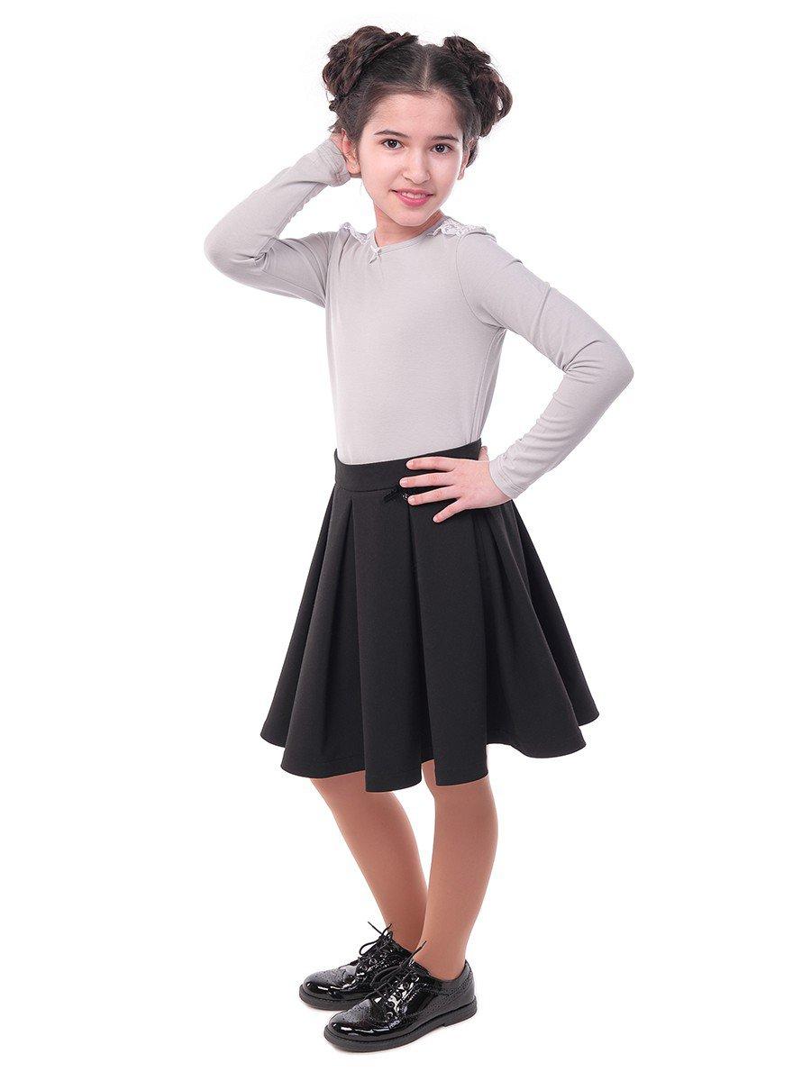 Блуза для девочки с кружевной тесьмой и декоративным бантиком