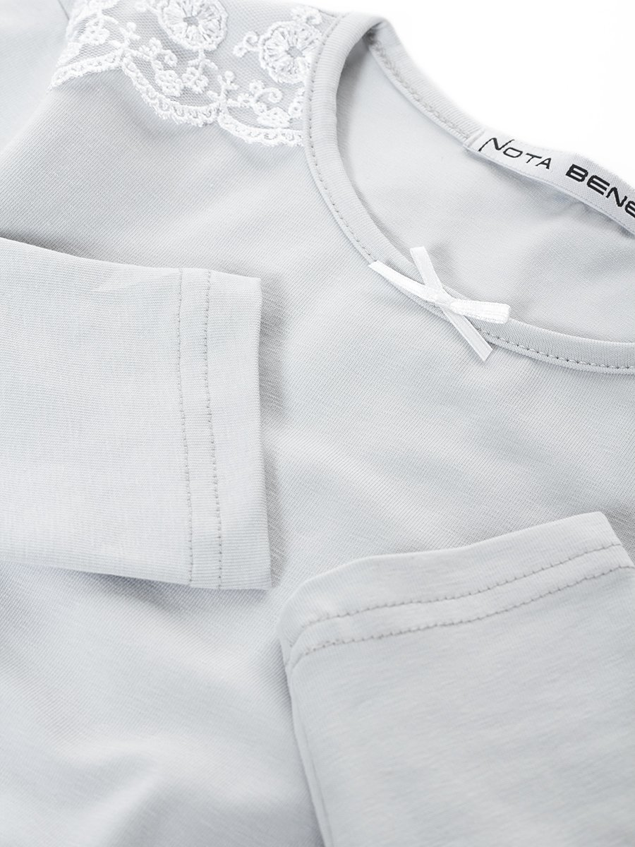Блузка прилегающего силуэта, цвет: серый
