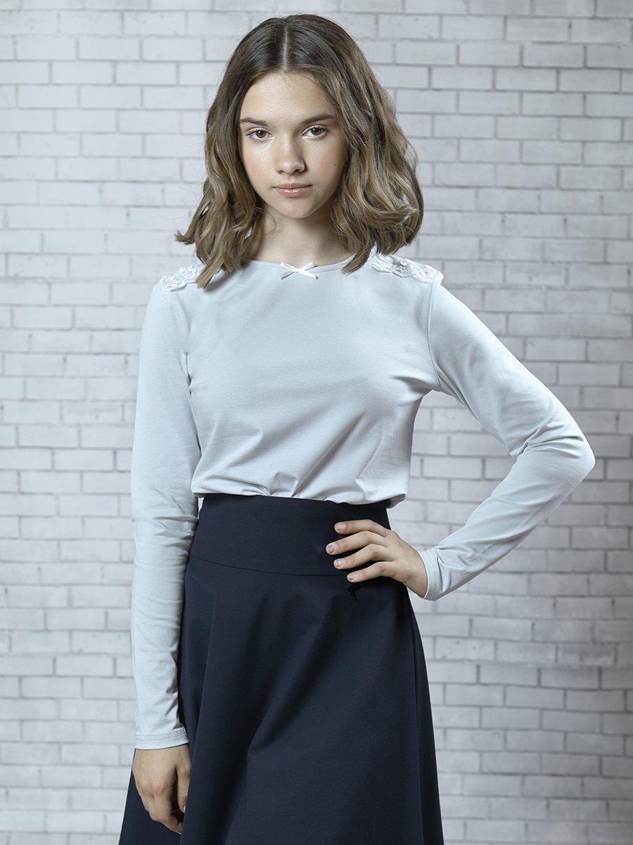 Блуза трикотажная для девочки, цвет: серый