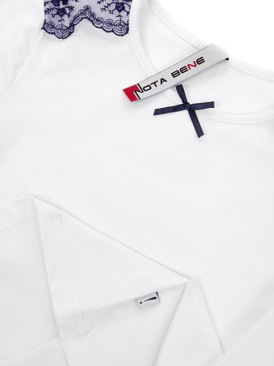 Блуза трикотажная для девочки, цвет: белый