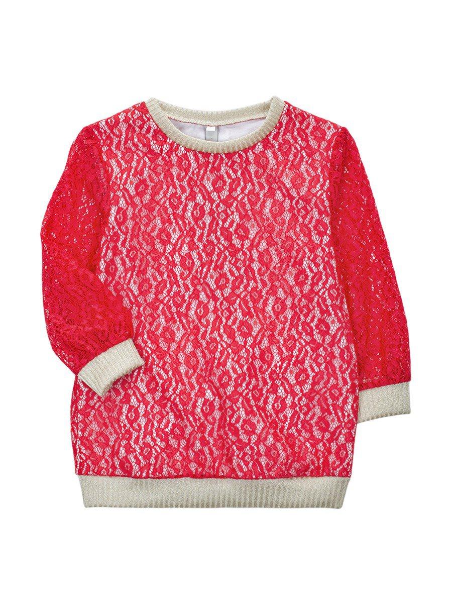 Блуза нарядная для девочки, цвет: красный