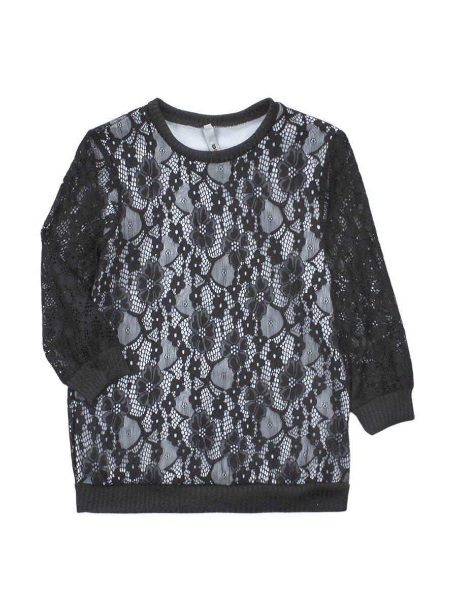 Блуза нарядная для девочки, цвет: черный
