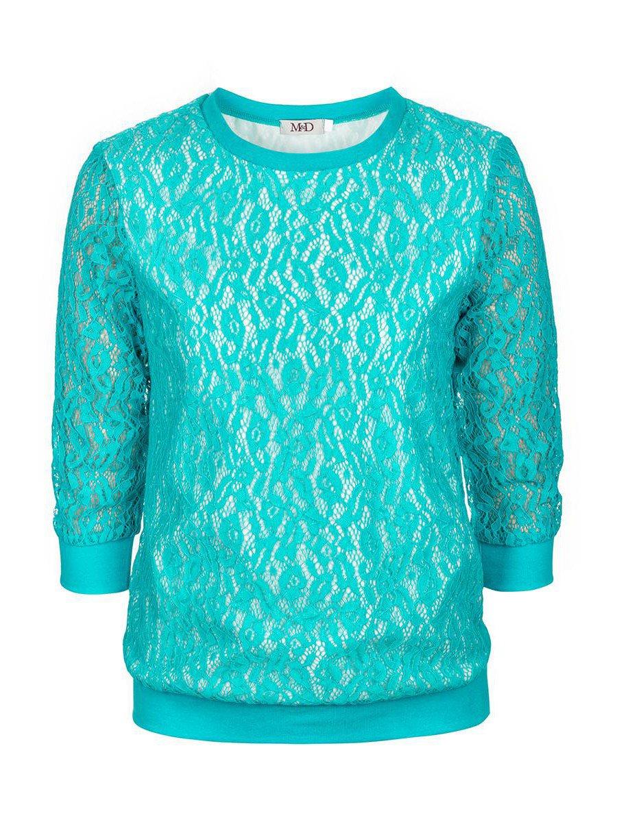 Блуза нарядная для девочки, цвет: бирюзовый