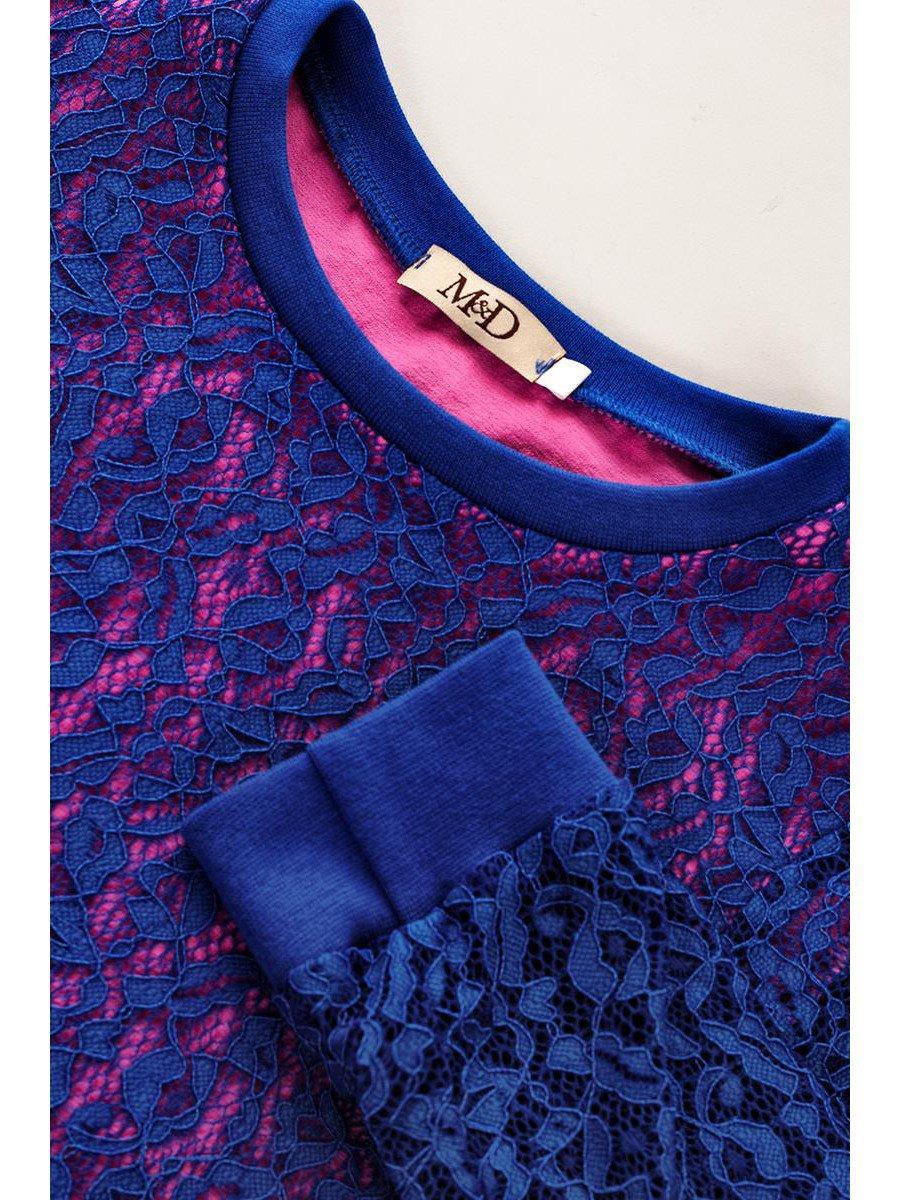 Блуза нарядная для девочки, цвет: васильковый
