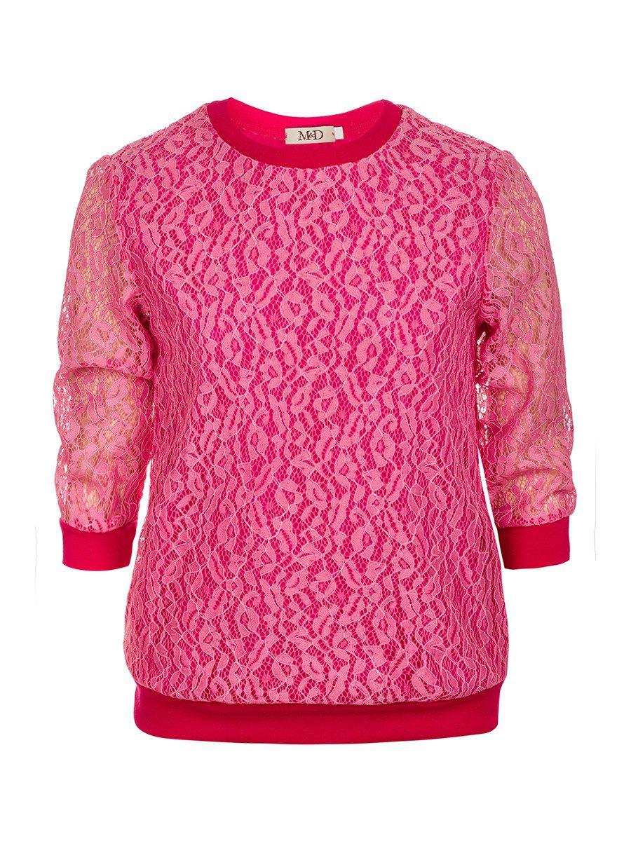 Блуза нарядная для девочки, цвет: розовый