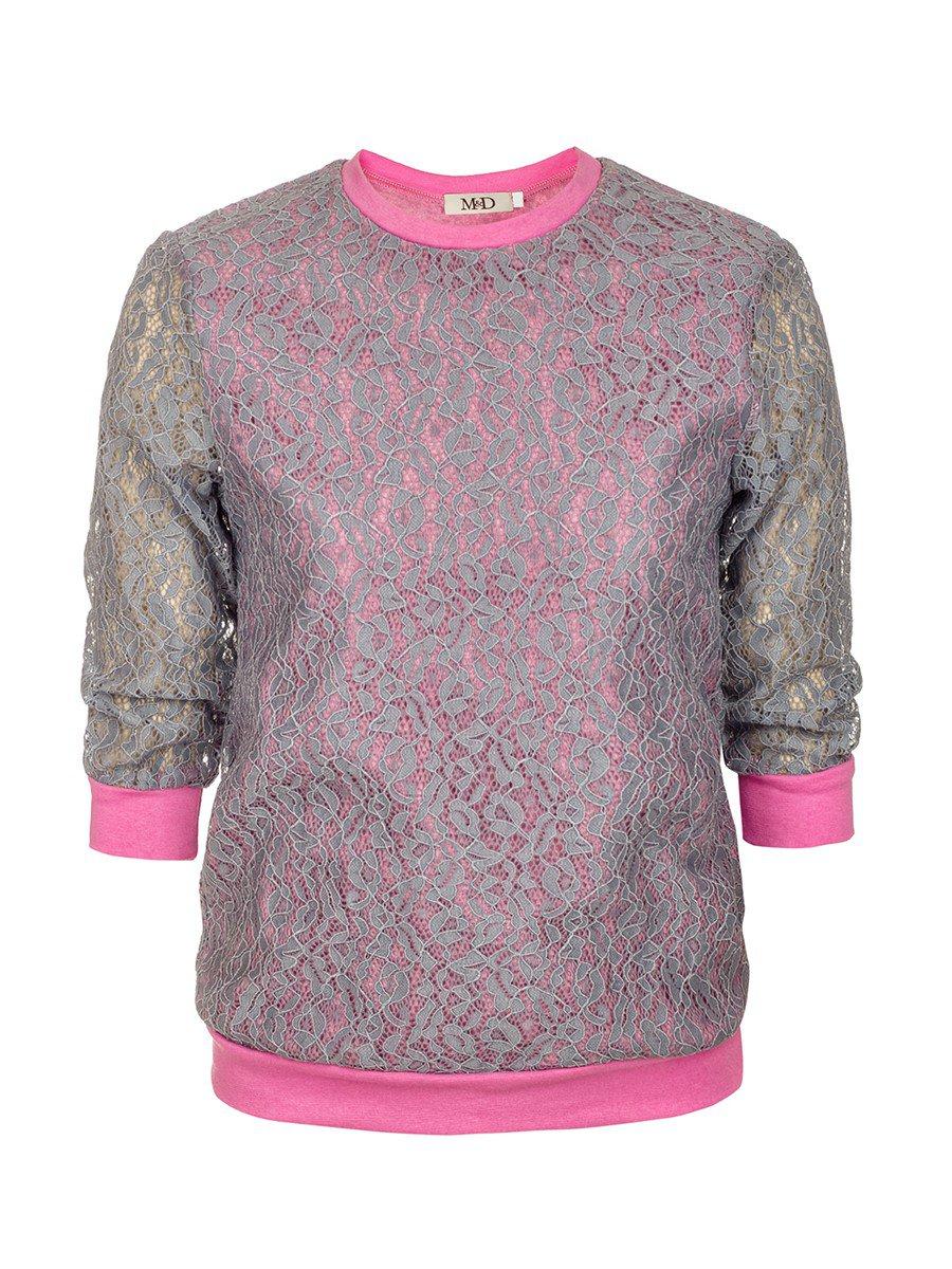 Блуза нарядная для девочки, цвет: серый