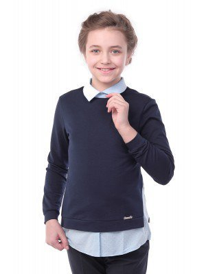 Джемпер-обманка для девочки