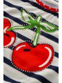 Комплект для девочки: туника и лосины, цвет: красный